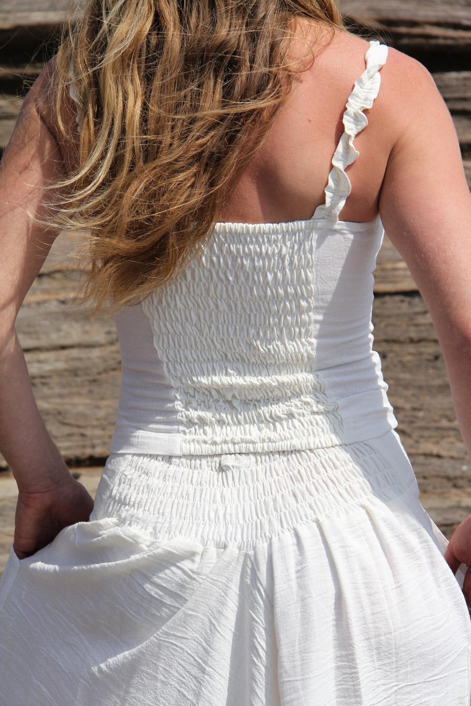 Débardeur Body 100% coton tissé main 2 tailles (sm et ml) teinture végétale ayurvédique 29€