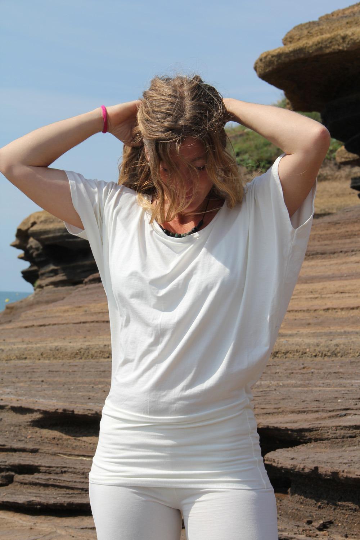 Haut papillon yoga taille unique 95% viscose 5% lycra 29€