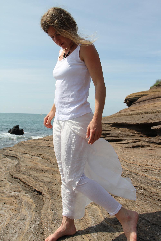 Pantalon yoga soie viscose taille unique 59€