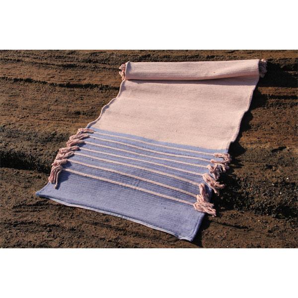Tapis de yoga en fibre de coton et sève d'hévéa. Fait main. 100 % naturel.